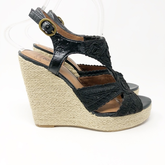 1b221bc7c Lucky Brand Shoes | Platform Espadrille Wedge Sandals 7 | Poshmark